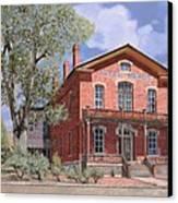 Bannock-montana-hotel Meade Canvas Print by Guido Borelli