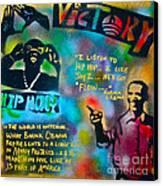 Barack And Jay Z Canvas Print by Tony B Conscious