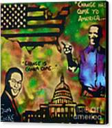 Barack And Sam Cooke Canvas Print by Tony B Conscious