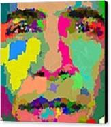 Barack Obama - Abstract 01 Canvas Print by Samuel Majcen