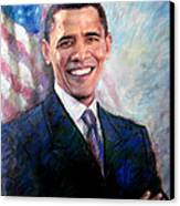 Barack Obama Canvas Print by Viola El