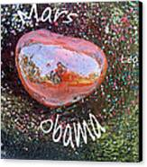 Barack Obama Mars Canvas Print by Augusta Stylianou