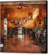 Barber - Union Nj - The Modern Salon  Canvas Print by Mike Savad