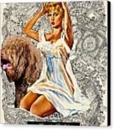 Barbet Art - Una Parisienne Movie Poster Canvas Print by Sandra Sij