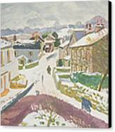 Barbon In The Snow Canvas Print by Stephen Harris