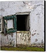 Barn Door In Need Of Repair Canvas Print by Bill Cannon