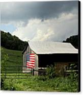 Barn In The Usa Canvas Print by Karen Wiles