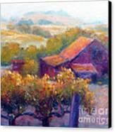 Barn Vineyard Canvas Print by Carolyn Jarvis