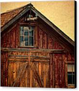 Barn With Weathervane Canvas Print by Jill Battaglia