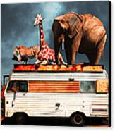 Barnum And Bailey Goes On A Road Trip 5d22705 Canvas Print by Wingsdomain Art and Photography