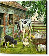 Barnyard Chatter Canvas Print by Trudi Simmonds
