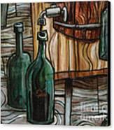 Barrel To Bottle Canvas Print by Sean Hagan