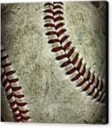 Baseball - A Retired Ball Canvas Print by Paul Ward