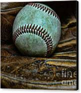 Baseball Broken In Canvas Print by Paul Ward