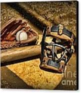 Baseball Play Ball Canvas Print by Paul Ward