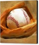 Baseball V Canvas Print by Lourry Legarde