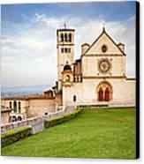 Basilica Of Saint Francis Canvas Print by Susan Schmitz