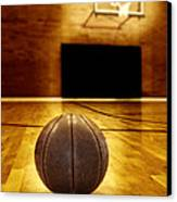 Basketball Court Competition Canvas Print by Lane Erickson