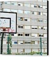 Basketball Court In A Social Neighbourhood Canvas Print by Luis Alvarenga