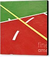 Basketball Court Canvas Print by Luis Alvarenga
