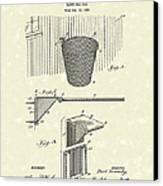 Basketball Hoop 1925 Patent Art Canvas Print by Prior Art Design