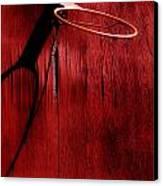 Basketball Hoop Canvas Print by Lane Erickson