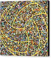 Basketball Mosaic Canvas Print by Yury Malkov
