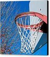 Basketball Net Canvas Print by Valentino Visentini