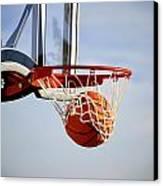 Basketball Shot Canvas Print by Lane Erickson