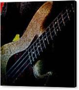 Bass Guitar Canvas Print by Bob Orsillo