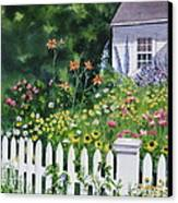 Bass River Cottage Canvas Print by Karol Wyckoff