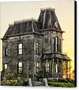 Bates Motel Haunted House Canvas Print by Paul W Sharpe Aka Wizard of Wonders