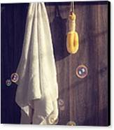 Bathroom Towel Canvas Print by Amanda And Christopher Elwell