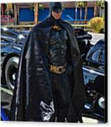 Batmobile And Batman Canvas Print by Tommy Anderson
