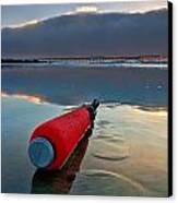 Batter-ed By The Sea Canvas Print by Peter Tellone