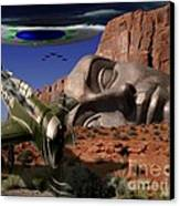 Battle For The Ancient Face Canvas Print by Keith Dillon