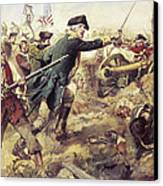 Battle Of Bennington Canvas Print by Frederick Coffay Yohn