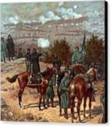 Battle Of Chattanooga Canvas Print by American School