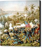 Battle Of Qusimas Canvas Print by Kurz and Allison