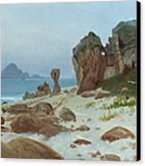 Bay Of Monterey Canvas Print by Albert Bierstadt