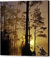 Bayou Sunrise Canvas Print by Lianne Schneider