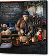 Bazaar - We Sell Tomato Sauce  Canvas Print by Mike Savad