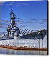 Bb-60 Uss Alabama Canvas Print by Barry Jones