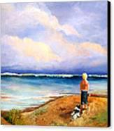 Beach Buddies Canvas Print by Susan M Fleischer