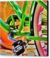 Beach Cruiser Canvas Print by Helen Carson