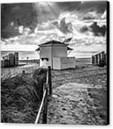 Beach Entrance To Old Glory - Black And White Canvas Print by Ian Monk