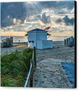 Beach Entrance To Old Glory Canvas Print by Ian Monk