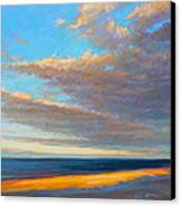 Beach Front Canvas Print by Ed Chesnovitch