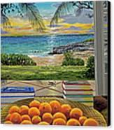 Beach View Canvas Print by Carey Chen