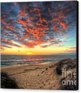 Beachcombers Sunset Canvas Print by English Landscapes